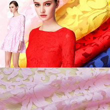 2017 New Arrival France Maple Leaf Embroidery Lace Fabric African Net Lace Organza guipure cord lace fabric For Dress White(China)