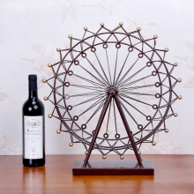 Mini Ferris wheel European style living room decoration Home Furnishing retro iron wheel model creative decorative gift wedding(China)