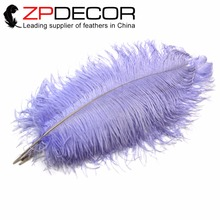 ZPDECOR 55-60cm(22-24inch) 100pieces/lot Good Quality Factory Directly Wholesale Dyed lavender Ostrich Pluma Feathers