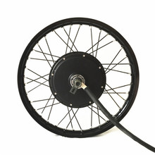 "QS V3 electric bike hub motor wheel 10kw peak power on 19"" motorcycle wheel"