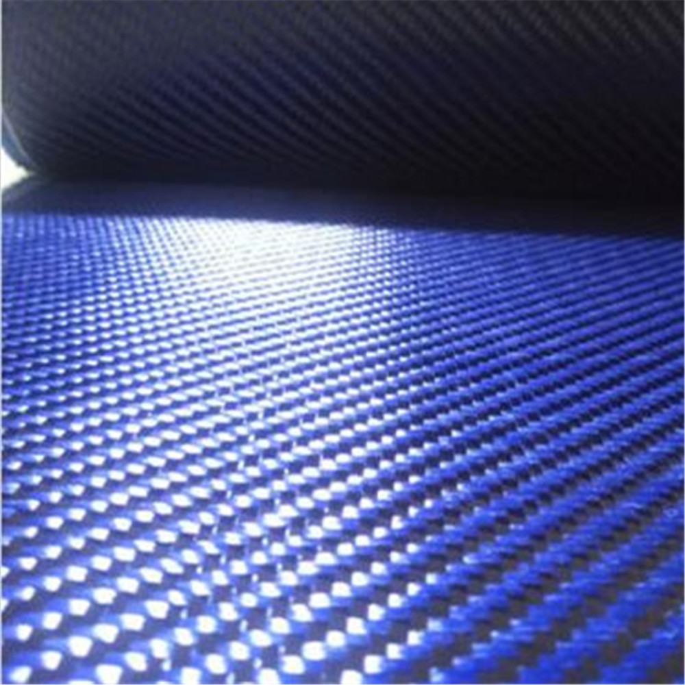 Yellow Aramid Carbon Fiber Blended Fabric Plain Carbon cloth 200gsm