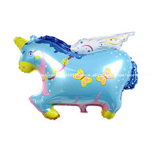 10pcs Flying Horse Shape Foil Balloon for kid toys, Big Inflatable Promotion Walking Animal balloon Free Shipping