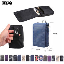 KSQ New Sports Wallet Mobile Phone Bag For Multi Phone Model Hook Loop Belt Pouch Holster Bag Pocket Outdoor Army Cover Case(China)