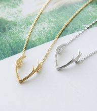 min1pc Famous Feminine Jewelry Horn Necklace  Antler Necklace Everyday Necklace Unique Pendant Minimalist Jewelry Christmas Gift