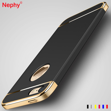 Nephy Thin PC Cover Case For iPhone 5 5S SE Capa Gold Plating Frame Bumper Phone Housing Three Part Plastic SmartPhone Coque