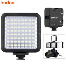 Godox 64 LED Video Camera On-camera Light for DSLR Camera Camcorder mini DVR for Selfie News Interview Macrophotography(China)