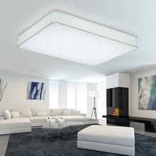 LED acrylic ceiling lamp, electrodeless dimming lighting rectangular, square, round   Free shipping