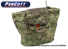 TMC Dump Pouch PenCott GreenZone Fold Up MOLLE Military Tactical Dump Pouch+Free shipping(SKU12050659)(China)