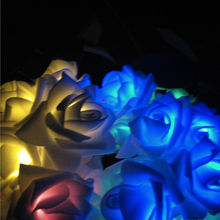 RGB Solar LED Lighting Strings Wedding Flower Rose Christmas Light Solar Operated Party Decoration String Lights 20LED 4.8M Luz