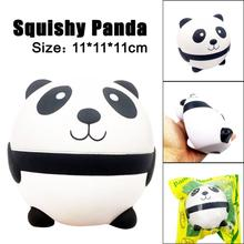 Squeeze Exquisite Cute Panda Scented Squishy Charm Kawaii Panda Slow Rising 11CM Simulation Fun Antistress Novelty Funny Gadgets(China)