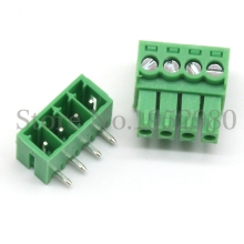 20 Set 3.5MM PCB Pluggable Terminal Block Connectors 2/3/4/5/6/7/8/9/10 Pin Ways Right Angle KF15EDG-3.5 Copper Green RoHS(China)
