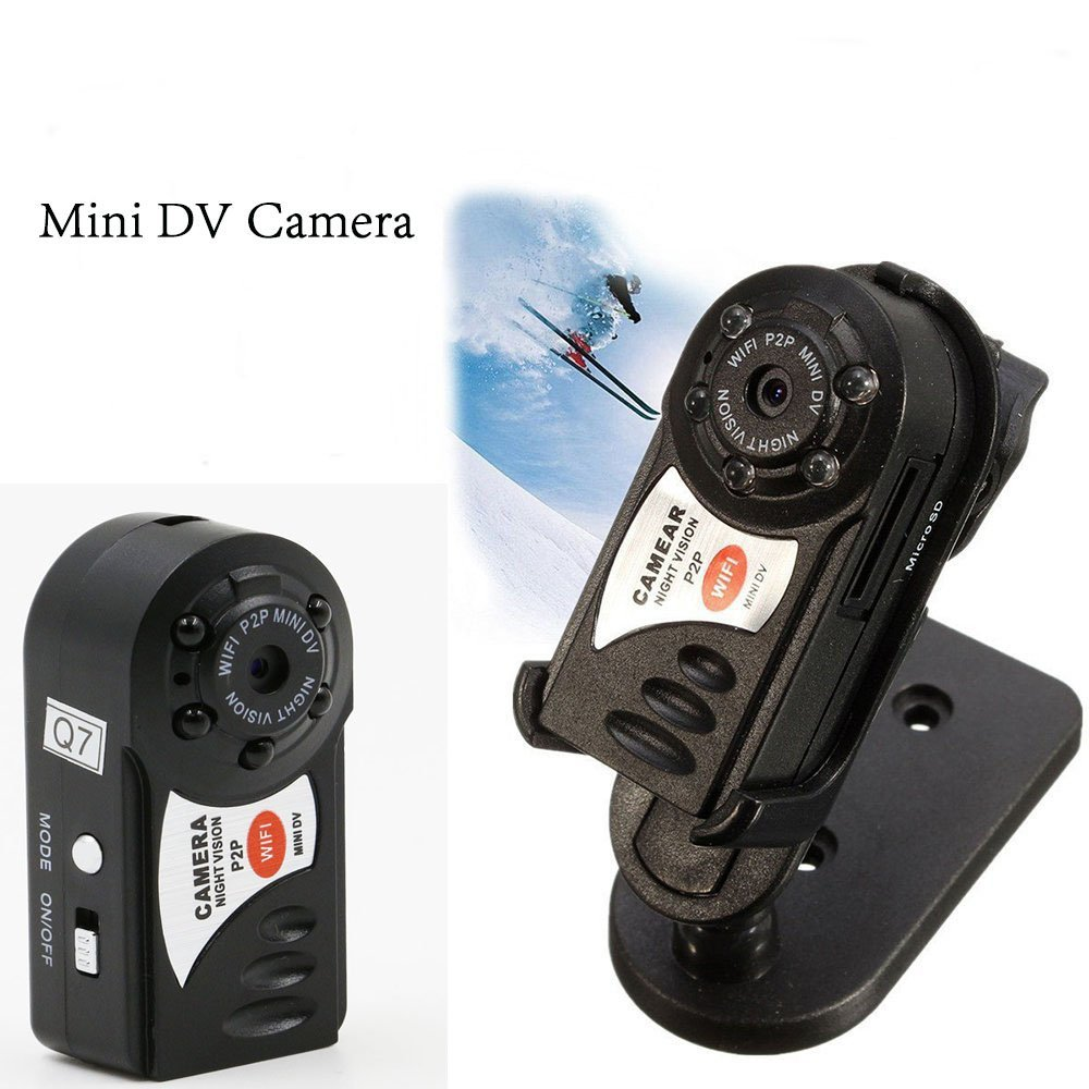 brand new micro Q7 spycam mini camera wifi 720p infrared night vision nanny camcorder for motion detection(China)