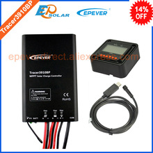 Controller of EPEVER brand product solar panel system Tracer3910BP 15A 15amp with USB communicaiton PC cable and MT50 meter