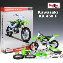 Maisto Kawasaki KX 450F Assembly Model Motorcycle Model 1:12 Scale Metal Motorbike Collectible Diecast Alloy  Kids Toys Gift