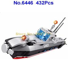 6446 432pcs Military Army Maritime Nuclear Powered Attack Submarine Building Block Brick Toy(China)