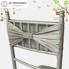 50PCS Free Shipping Sliver Taffeta And Spandex Chair Bands For Chiavari Chair Decoration Imitate Diamond For Wedding(China)