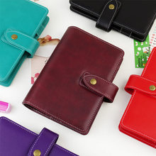 2017 JAMIE Note Vintage Creative A5 A6 Planner loose leaf  Diary Faux Leather Notebook With Big Ring