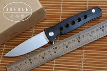 JUFULE OEM Russian Dr Death Mayo steel ball bearing Folding Knife D2 G10 Steel Camping Hunting Survival Knives Outdoor EDC Tool