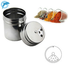 LINSBAYWU New Stainless Steel Kitchen Chef Chicken Cafe Cafe Sugar Salt Pepper Flour Jar Can Pot Tin Metal(China)