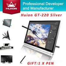 "Promotion Huion GT-220 21.5"" Professional Digital Tablet Monitor IPS LCD Monitor Pen Display HD Touch Screen Monitor With Gift"