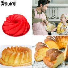 Swirl Shape Cake Bread Silicone Mold DIY Baking Cake Decorating Tools Mousse Chocolate Molds Pastry Biscuits Cupcake Mould K067(China)