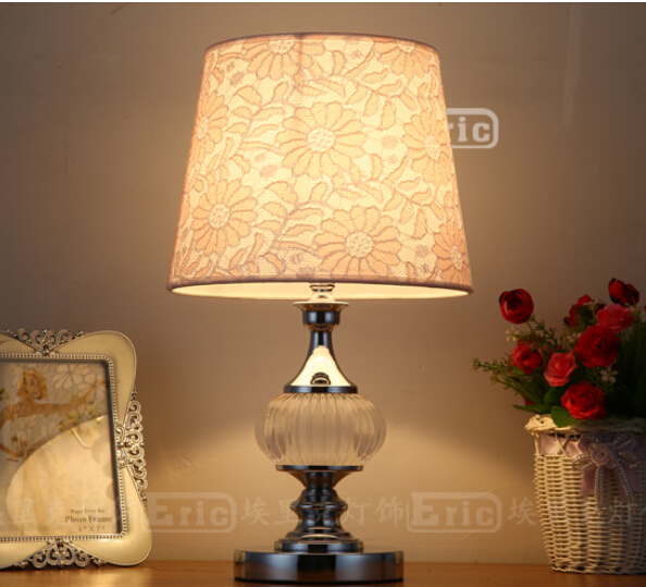 Crystal glass. The bedroom the head of a bed. Decorate the wedding small desk lamp <br><br>Aliexpress