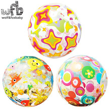 Over 3 years Children kids colored stars fish Beach Ball toy for water summer random color