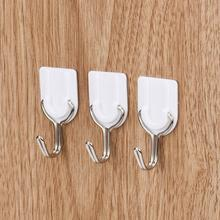 Newest Hot Selling on Ebay 6PCS Strong Adhesive Hook Wall Door Sticky Hanger Holder Kitchen Bathroom White dig692
