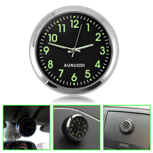 Buy Luminous Car Clock Mechanics Quartz Clock Mini Noctilucent Watch Clocks Auto Home Decoration for $5.28 in AliExpress store