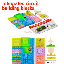 41/34/19 PCS Integrated Circuit Building Blocks Electronic snap circuit discover  Model Kits Science Educatioal Kids Toys