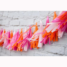 100Pcs Tissue Paper Tassels Garland Buntings Pompom Garland Ribbon Balloons DIY Outdoor Baby Shower Birthday Party Supplies(China)