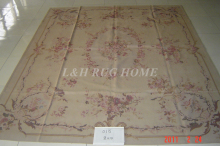 Free Shipping10'X14' French Aubusson Rug, 100% hand woven New Zealand woolen rug--Light Grey Green field