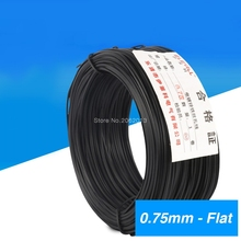 0.75mm Cable Tie Galvanized Tie Wire Black Flate Shape For Garden Wire & Cable Arrangement Approx.50m Flat Type
