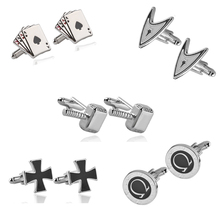 8 Style Funny Simple Design Cufflinks Men's Shirt Cuff Links High Quality Button Spinki For Male Accessories Movie Jewelry Gift