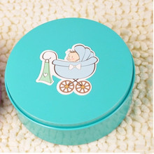 Personalized Baby Moon Hi Egg Cake Tin Candy Box Gift Birth Of The Age Of The Full Moon Candy Box Cubby Box Change Money Card(China)