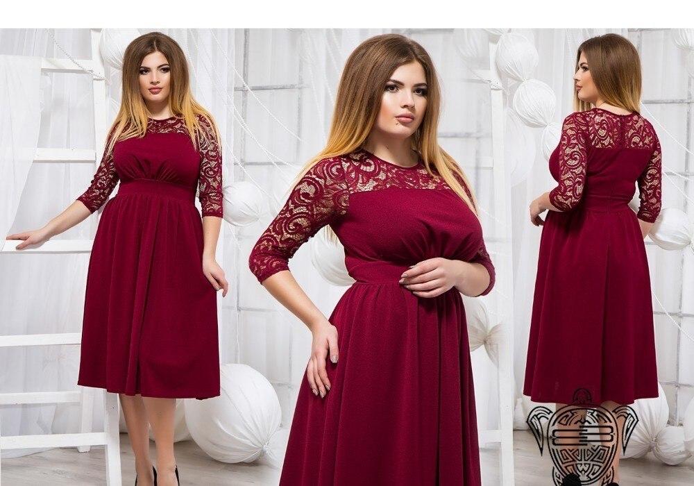 Red Christmas Dress Plus Size Women Lace Dress Elegant Winter Dress ...