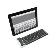 Silicone Wireless Bluetooth Keyboard for Apple iPad air iPad Mini 2 3 4 High Quality Roll Waterproof Foldable Flexible For IOS(China)