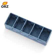 ORZ 5 Compartments Storage Box Tie Socks Underware Drawer Organizer Woven Nylon Strips Home Closet Wardrobe Storage Basket(China)