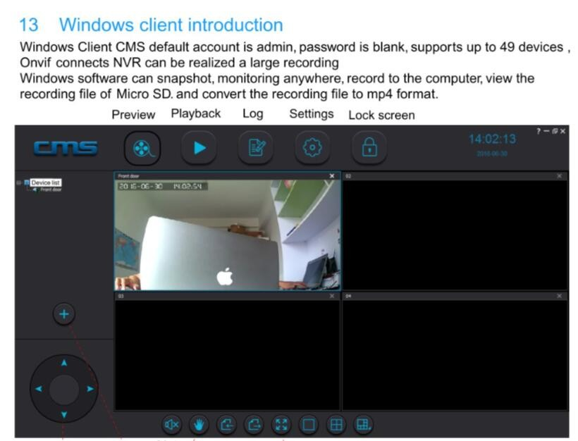 about windows clients Introduction how to monitor the outdoor camera via computer