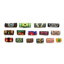 15Pcs/Lot Mix Colorful Fabric Hair Braid Dread Dreadlock Beads Tube Ring Clips Cuff 8-12mm Hole Braiding Extension Accessories(China)