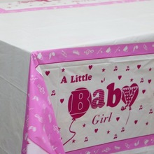 Lovely Baby girl Prints Party Tablecloth Supplies Birthday theme table covers kids favors event party baby shower map 108*180CM