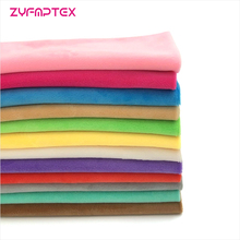 ZYFMPTEX 1Pcs Minky Fabrics For Sewing DIY Handmade Home Textile Cloth For Toys Plush Fabric Patchwork Solid Color Style 45*50cm(China)