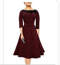 To quality New Designer Robe Womens Spring 50s Rockabilly Swing Pinup Dance Wedding Party Casual Vintage Dresses Polka Dot Dress