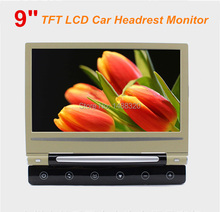 "Ultra-thin 9"" Digital TFT LCD Headrest Car Monitor Player with 800x480 High Resolution Two Videos Input"