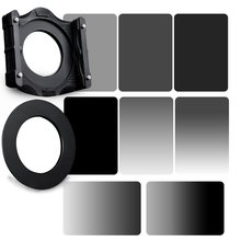 Zomei 10 in 1 Square Z-PRO Series Filter Holder Support + Adapter Ring + Full Grey + Gradual Grey ND2+ND4+ND8+ND16 150*100