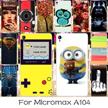 22 DIY Silicon Mobile Phone Case Cover For Micromax A104 Canvas Fire 2 Fire2 4.5 INCH Case Back Covers Shell Housing Hood Fundas