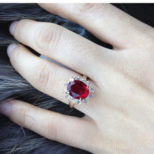 Green/Red/Royal Crystal Big Rings For Women Gold Color  Ring top quality jewelry female Finger Ring wholesale free shipping