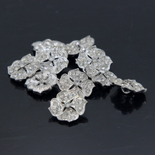 20Pcs 1.8cm Flower Crystal Crystal Rhinestone Buttons DIY Craft Embellishment Silver Sewing Supplies