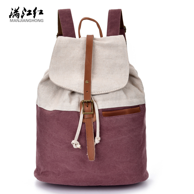 Thick Washed canvasBag vogue hipster versatile youth school bag daily travel backpacks School Rucksack 15 laptop backpack 1514<br><br>Aliexpress