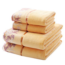 Simanfei 2017 New Arrival 2pcs/ lot Super Soft Elegant Cotton Terry Hand Towel Face Bathroom Towels Bulk Embroidered Hair Towels